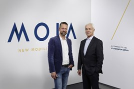 New mobility venture: Matthias Müller, chief executive of the Volkswagen Group, with MOIA chief executive Ole Harms