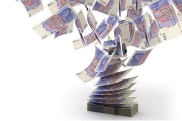 Cash flutters upwards