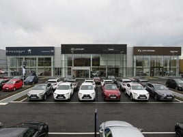 Motorline's £14.5m Hyundai, Lexus and Peugeot showroom development in Gatwick