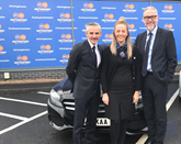 Motorpoint sponsorship (from left): Danny Lennon, manager, Clyde FC; Victoria McLeod, customer services supervisor, Motorpoint Glasgow; and Michael McMullen, sales manager, Motorpoint Glasgow