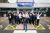 Motorpoint Oldbury's general manager, John McConnell (front), with his team at the newly-reopened site