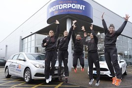 The Team Northumbria netball team at Motorpoint, Birtley