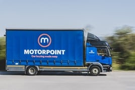 Motorpoint used cars sales home delivery lorry
