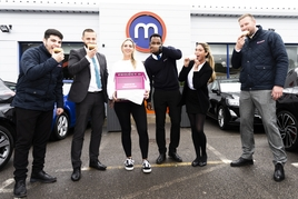 Motorpoint staff celebrate Top 100 Company to Work for ranking