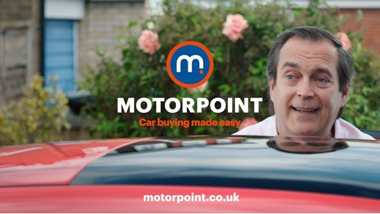 A still from Motorpoint's 'Your Car, Your Way' TV advertising campaign