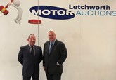 Simon Morgan (owner of Letchworth Motor Auctions) and Sir Oliver Heald MP