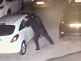 CCTV footage of attack on Murray Motor used car dealership