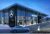 Mercedes-Benz showroom new corporate identity