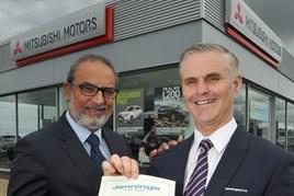 Jennings Group managing director Nas Khan with long service award recipient Robert Flintoft