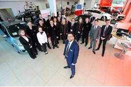 Chris Green and his team at Vertu Honda Lincoln