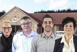 New starters at RTS Group (left to right): Debra Pitchford, Shaun Targett, Simon Snowdon, Clare Campbell