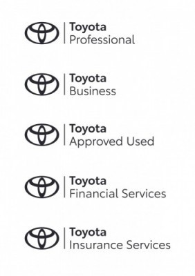 Toyota rebrand extends across various departments