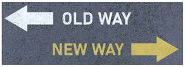 Old way, new way graphic