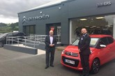 ​Citroen UK managing director Eurig Druce (left) with Drivers of Prestatyn managing director Mark Edgley