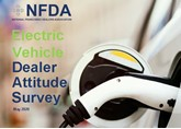 The cover of the National Franchised Dealers Association's (NFDA) bi-annual car dealer EV Dealer Attitude Survey