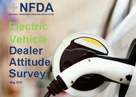 The cover of the National Franchised Dealers Association's (NFDA) bi-annual car dealer EV Dealer Attitude Survey