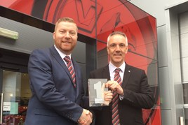 Nick Harding, general manager at Bristol Street Motors Vauxhall Knaresborough, and Jim Jakes, commercial sales manager.
