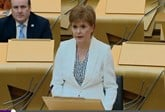Scottish First Minister Nicola Sturgeon addresses ministers in Holyrood