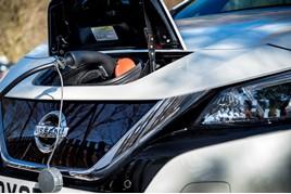 Nissan EV on-charge