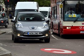 Nissan Leaf EV in London