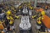 The production line at Nissan's Sunderland manufacturing plant