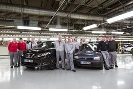 Staff at Nissan's Sunderland plant mark the Qashqai's milestone