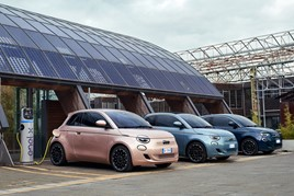 The new Fiat 500 EV range