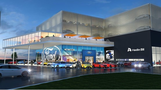 Artist's impression: Hedin Group is to become a Ford 'super dealer', according to non-executive director Trevor Finn