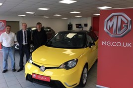The team at O C Davies & Son welcome MG Motor UK