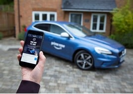 Volvo Car UK and Amazon Prime Now test drives