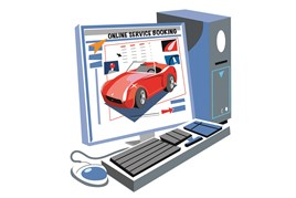 Online service booking feature