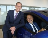 Brayleys Cars finance director Richard Lipscombe (left) with managing director Paul Brayley