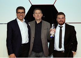 Andy Stevenson with Service Manager of the Year Paul Dittrich and Alex Brooker