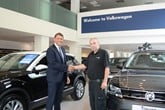 Alan Day managing director recognises 37 years service of master technician John Jackson