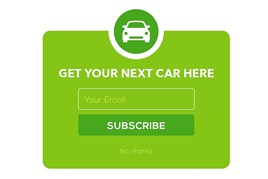 Car sales sign-up form