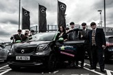 Lookers Electric Charge charity challenge pays a Peaky Blinders-inspired visit to Mercedes-Benz Walsall