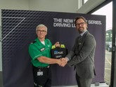Simon Dunn, regional director - north at St John Ambulance with Marcus Hallam, head of Business at BMW Doncaster
