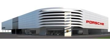 Artist's Impression: Pendragon's proposed Porsche Centre for South West Nottingham
