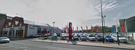 Vacant: the former Pentagon Vauxhall dealership site on Savile Street, Sheffield