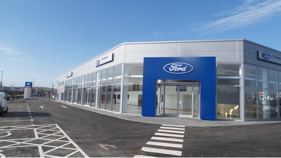 Perrys Motor Group's Chesterfield FordStore facility