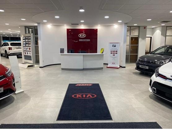Inside Perrys new Kia Huddersfield dealership