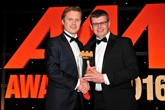 Peter Vardy, chief executive of Peter Vardy (left), accepts the award for Best  Dealership from Lee Higgins, managing director, Rhino Events