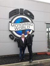 Big Motoring World chief executive, Peter Waddell, and Cox Automotive UK chief executive, Martin Forbes