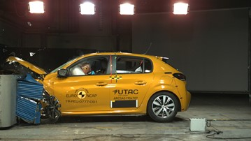 Peugeot's new 208 hatchback completes Thatcham Research's Euro NCAP crash tests