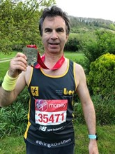 Jewelultra Group marketing director, Lance Boseley, celebrates his 2019 London Marathon fund-raising efforts
