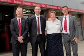 Picador plc managing director, Sir Robert Oakeley Bt; finance director, Neal Cruse; Betty Williams; and chief executive, Graham Jacobs