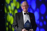 Jack Tordoff, JCT600 founder, with his award
