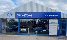 PJ Nicholls' SsangYong  Motors UK dealership in Pershore