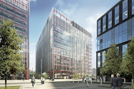 Artist's impression: Manchester's proposed First Street office development which could become home to Auto Trader