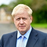 UK prime minster Boris Johnson